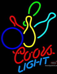 Coors Light Neon Colored Bowling Neon Sign