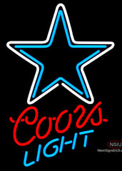 Coors Light Neon Dallas Cowboys NFL Neon Sign