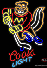 Coors Light Neon Minnesota Golden Gophers Hockey Real Neon Glass Tube Neon Sign