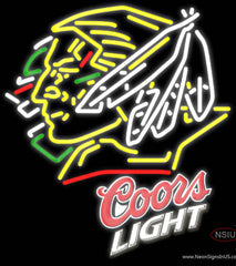 Coors Light North Dakota Fighting Sioux Hockey Real Neon Glass Tube Neon Sign
