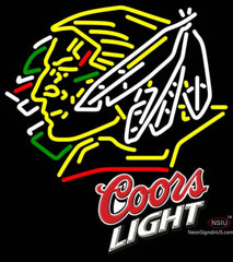 Coors Light North Dakota Fighting Sioux Hockey Neon Sign