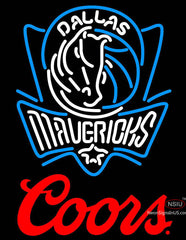 Coors Logo Dallas Mavericks NBA Neon Sign