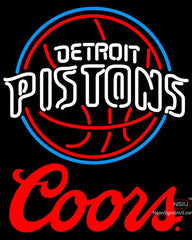 Coors Logo Detroit Pistons NBA Neon Sign