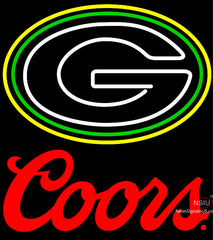 Coors Logo Green Bay Packers NFL Neon Sign