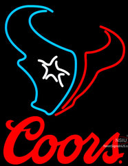 Coors Logo Houston Texans NFL Neon Sign