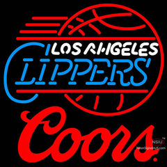 Coors Logo Los Angeles Clippers NBA Neon Sign