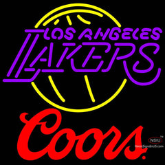 Coors Logo Los Angeles Lakers NBA Neon Sign