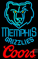 Coors Logo Memphis Grizzlies NBA Neon Sign