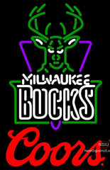 Coors Logo Milwaukee Bucks NBA Neon Sign