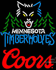 Coors Logo Minnesota Timber Wolves NBA Neon Sign