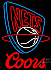 Coors Logo New Jersey Nets NBA Neon Sign