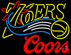 Coors Logo Philadelphia 7ers NBA Neon Sign