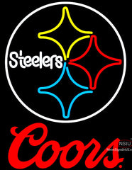 Coors Logo Pittsburgh Steelers NFL Neon Sign