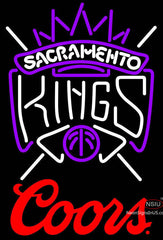 Coors Logo Sacramento Kings NBA Neon Sign
