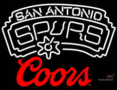 Coors Logo San Antonio Spurs NBA Neon Sign