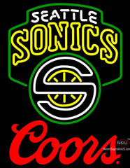 Coors Logo Seattle Supersonics NBA Neon Sign