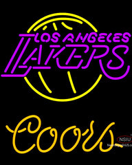 Coors Los Angeles Lakers NBA Neon Sign