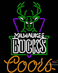 Coors Milwaukee Bucks NBA Neon Sign