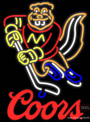 Coors Minnesota Golden Gophers Hockey Real Neon Glass Tube Neon Sign