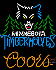 Coors Minnesota Timber Wolves NBA Neon Sign