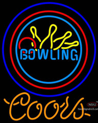 Coors Neon Bowling Neon Yellow Blue Sign