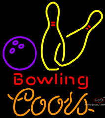 Coors Neon Bowling Neon Yellow Signs