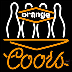 Coors Neon Bowling Orange Neon Sign   x