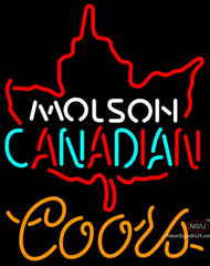 Coors Neon Molson Leaf Hockey Neon Sign