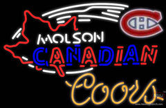 Coors Neon Molson Montreal Canadians Hockey Real Neon Glass Tube Neon Sign