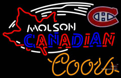 Coors Neon Molson Montreal Canadians Hockey Neon Sign