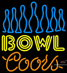 Coors Neon Ten Pin Bowling Neon Sign