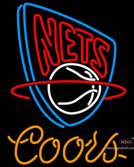 Coors New Jersey Nets NBA Neon Sign