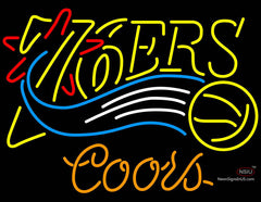 Coors Philadelphia 7ers NBA Neon Sign