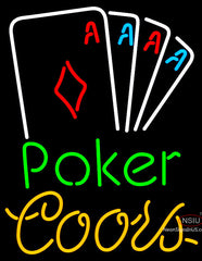 Coors Poker Tournament Neon Sign