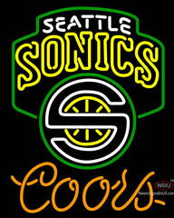 Coors Seattle Supersonics NBA Neon Sign