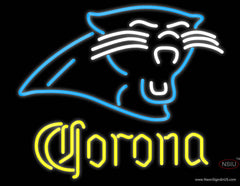 Corona Carolina Panthers NFL Real Neon Glass Tube Neon Sign