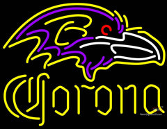 Corona Baltimore Ravens NFL Neon Sign