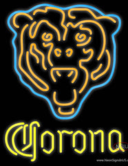Corona Chicago Bears NFL Real Neon Glass Tube Neon Sign