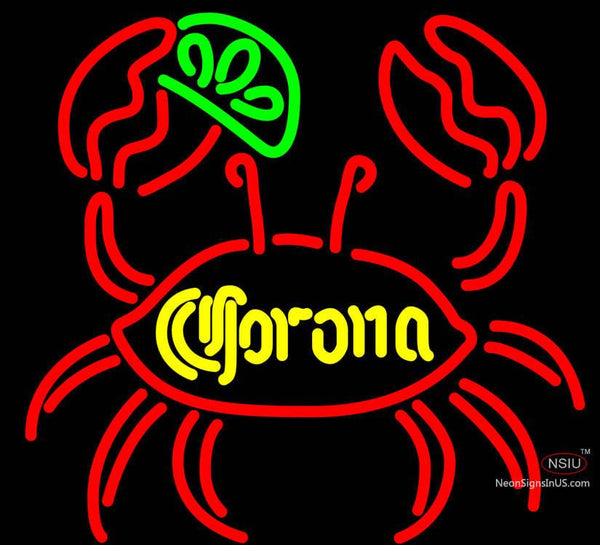 Corona Lime Crab Neon Beer Sign