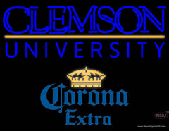 Corona Extra Clemson UNIVERSITY Real Neon Glass Tube Neon Sign