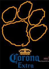 Corona Extra Clemson UNIVERSITY Tiger Print Neon Sign
