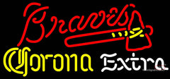 Corona Extra Light Atlanta Braves MLB Neon Sign