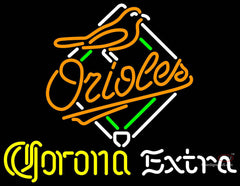Corona Extra Light Baltimore Orioles MLB Neon Sign