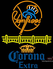 Corona Extra Logo New York Yankees Neon Sign