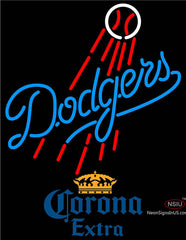 Corona Extra Los Angeles Dodgers MLB Neon Sign