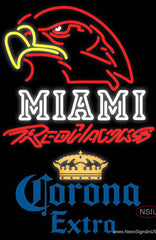 Corona Extra Miami UNIVERSITY Redhawks Real Neon Glass Tube Neon Sign