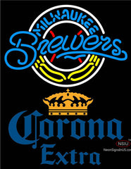 Corona Extra Milwaukee Brewers MLB Neon Sign