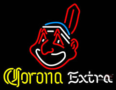 Corona Extra Neon Cleveland Indians MLB Neon Sign