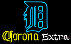 Corona Extra Neon Detroit Tigers MLB Neon Sign