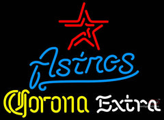 Corona Extra Neon Houston Astros MLB Neon Sign